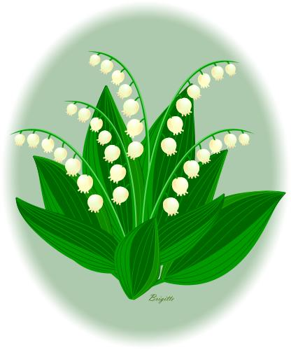 Lily-of-the-Valley clipart by Brigitte
